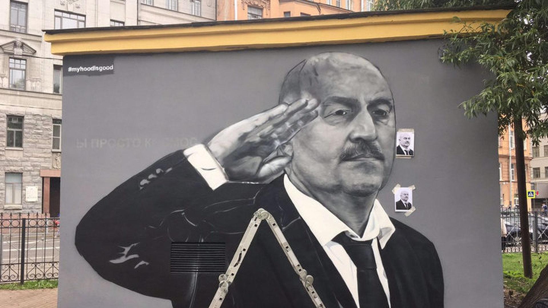 """Граффити с Черчесовым перерисовали из-за """"отрезанного"""" пальца"""