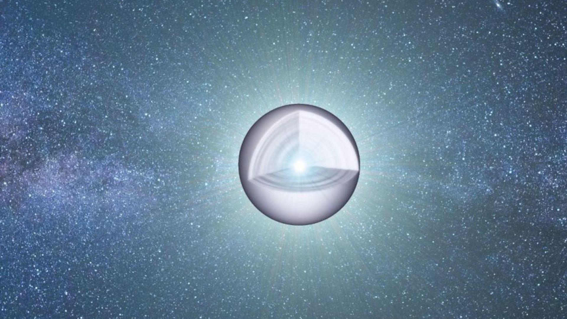Солнце превратится в огромный  алмаз после смерти, утверждают  ученые
