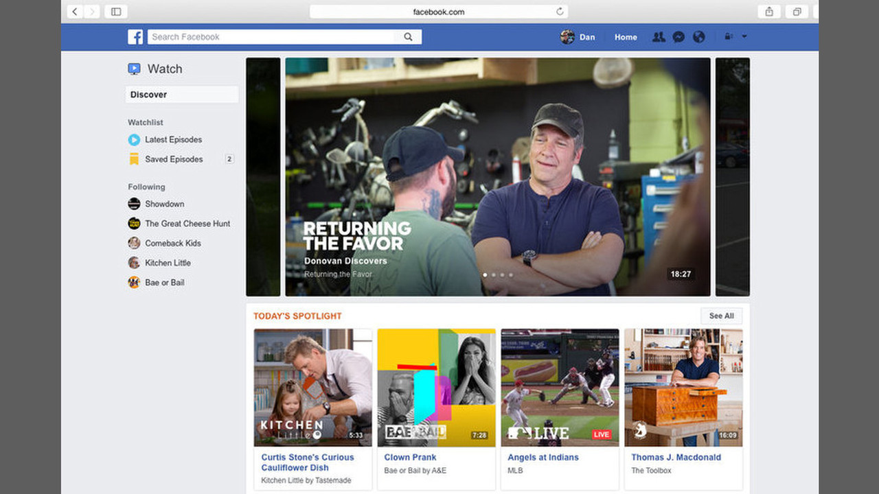 Социальная сеть Facebook запустит видеоплатформу Watch спрофессиональным контентом иUGC