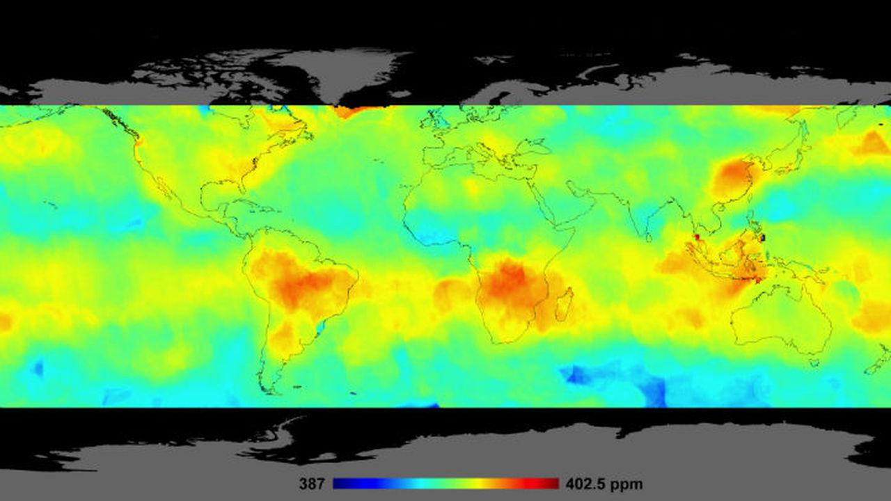Составлена самая подробная карта углекислого газа в атмосфере