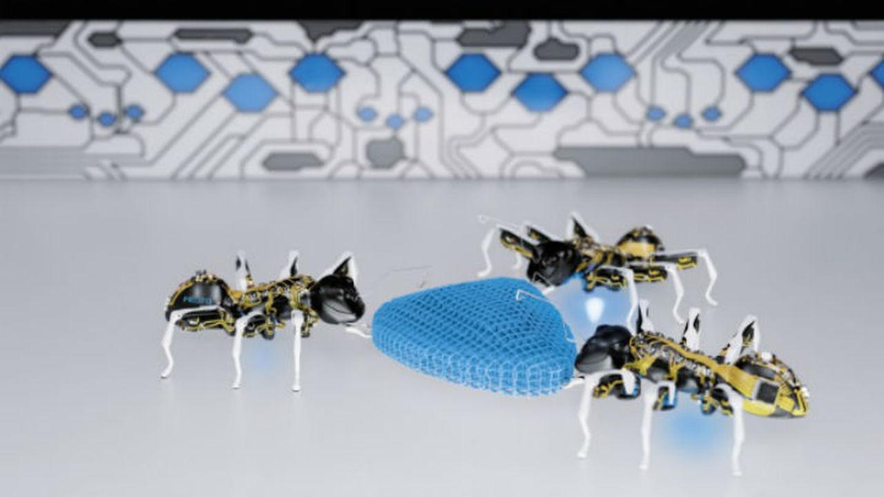 Немцы представили роботизированных муравьёв, бабочек и язык хамелеона