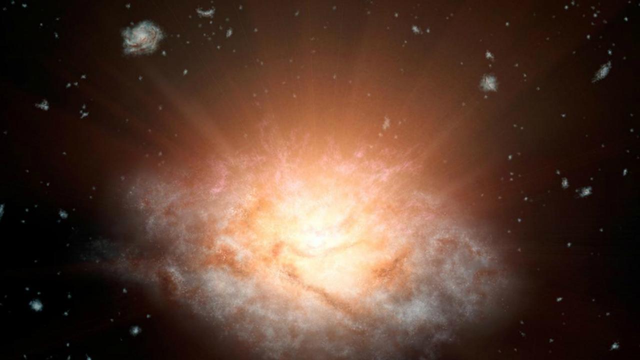 Астрономы обнаружили странную галактику-призрак, почти лишенную темной материи