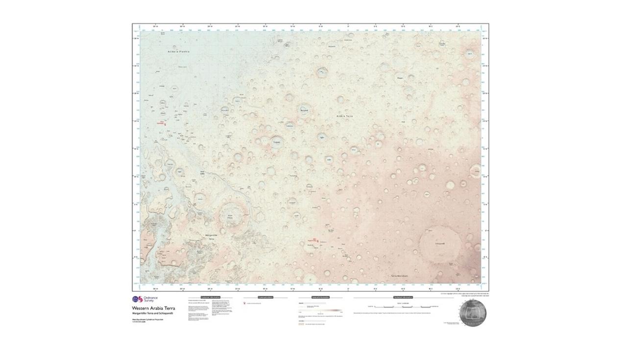 В Великобритании выпустили первую карту, подходящую для прогулок по Красной планете