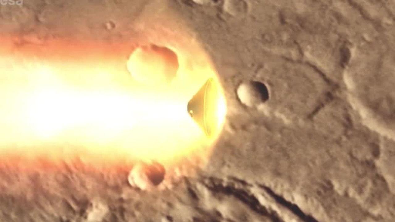 Пропавший Schiaparelli: ЧП с модулем на Марсе произошло уже после раскрытия парашютов