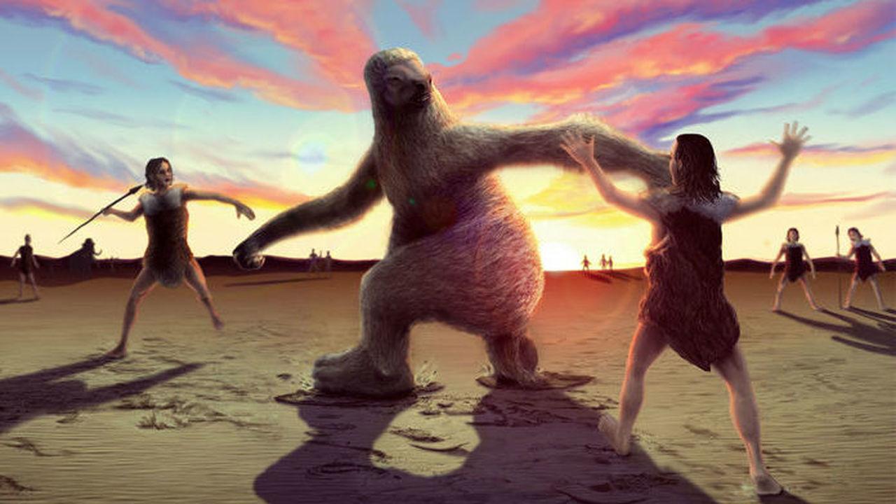 По пятам: зачем древние люди преследовали гигантских ленивцев
