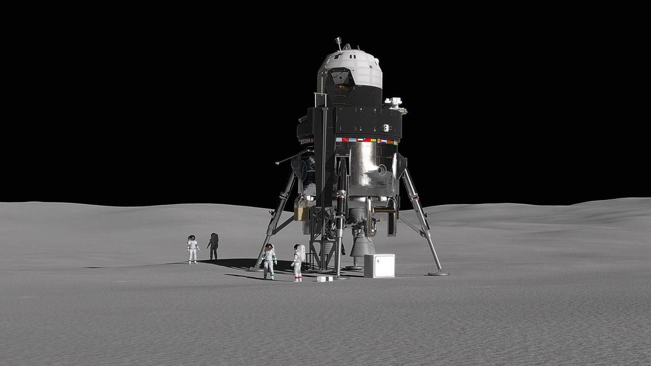 Компания Lockheed Martin представила проект многоразового лунного посадочного модуля