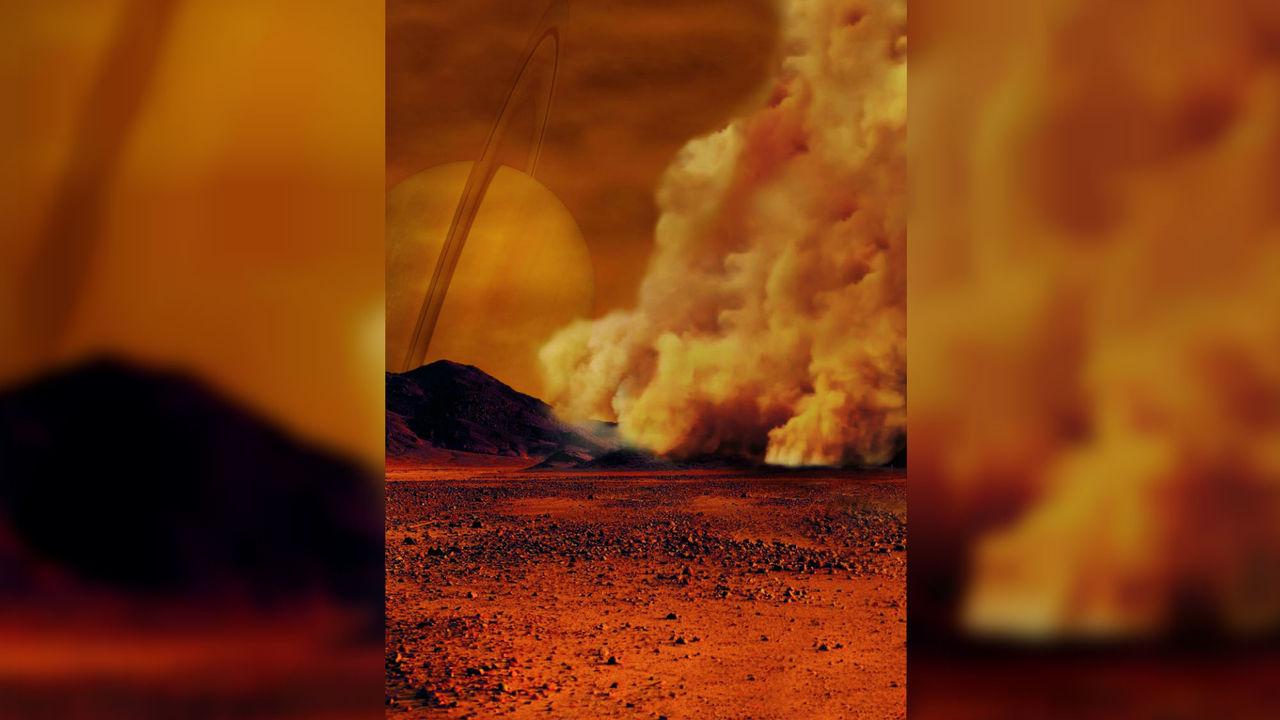 На спутнике Сатурна Титане обнаружены бури из органической пыли