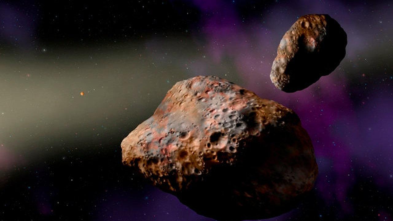 """Древний двойной астероид рассказал, когда """"подрались"""" планеты-гиганты"""