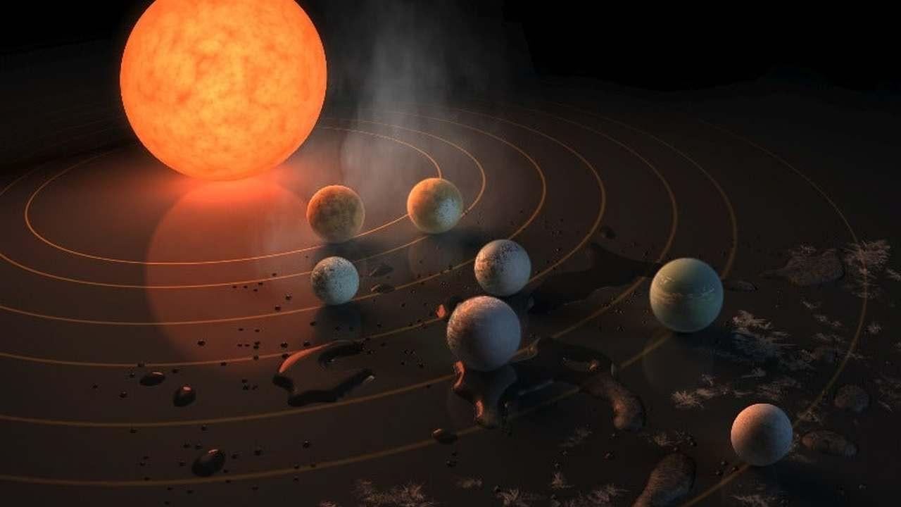 Жизнь в системе TRAPPIST-1 может существовать благодаря вулканам и вечной ночи