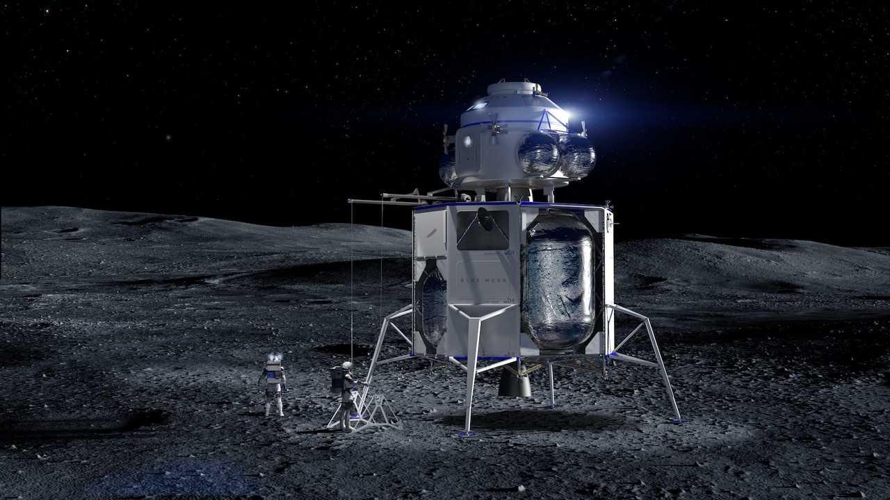 Компания Blue Origin показала аппарат для запуска человека на Луну к 2024 году