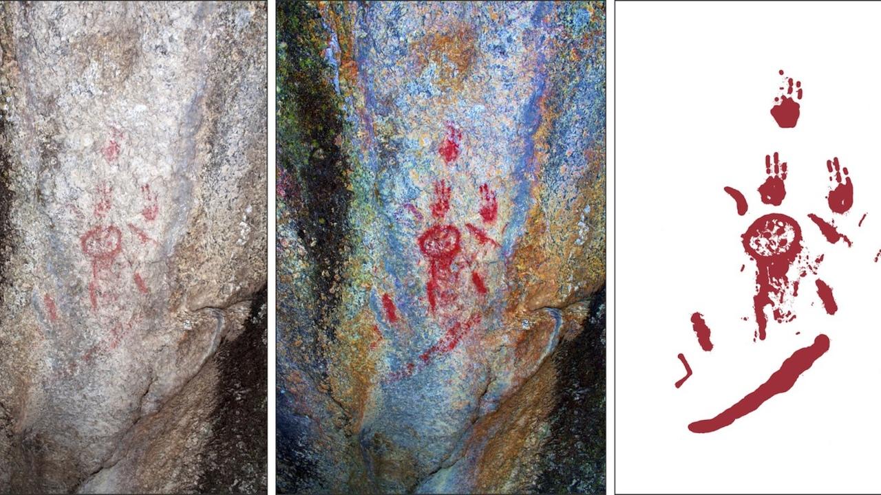 Первые вулканологи: древние люди стали свидетелями извержения вулкана и нарисовали его