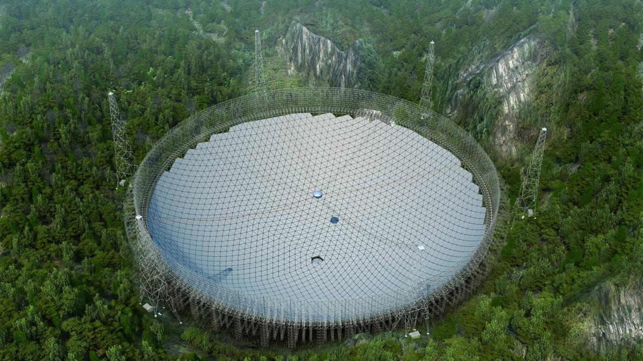 Китай полностью ввёл в строй крупнейший в мире радиотелескоп