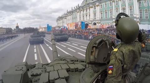 Военный парад, посвященный 72-й годовщине Победы в Великой Отечественной войне 1941-1945 годов. Санкт-Петербург. Парад Победы