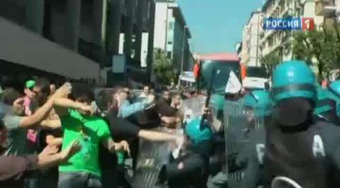 По Европе прокатилась волна протестов