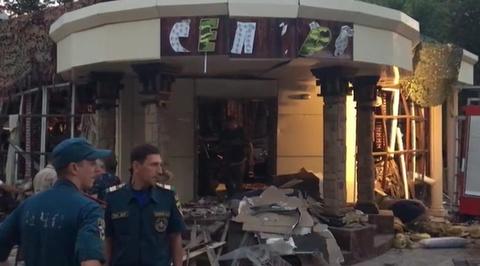 Появилось видео из донецкого кафе, где был убит Захарченко