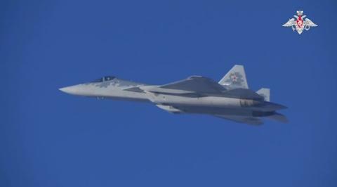Минобороны показало, как работают в Сирии российские Су-57