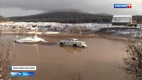ЧС в Красноярском крае: бревна разгребают руками, реку прощупывают ногами