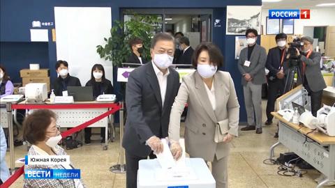 Выборы в Южной Корее: зараженные тоже проголосовали