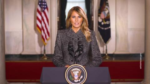 """Новости на """"России 24"""". Мелания Трамп записала прощальную речь к нации"""