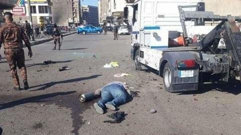 ЧП. Взрыв смертника в центре Багдада сняли на видео