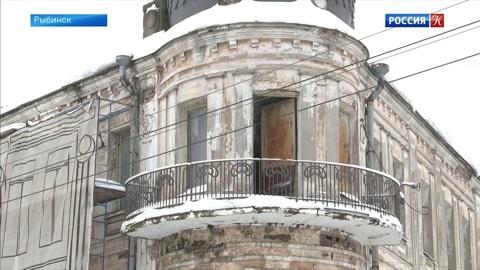 В центре Рыбинска реставрируют купеческое здание XIX века