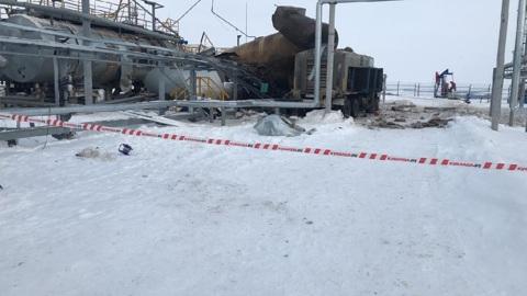 ЧП. Место взрыва на нефтезаводе в Татарстане сняли на видео