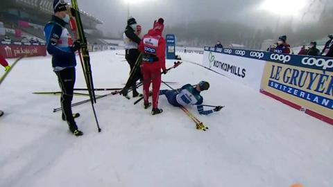 Видео из Сети. Российских лыжников дисквалифицировали после третьего места на Кубке мира