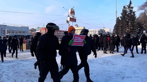 Вести. Детского омбудсмена возмутило присутствие несовершеннолетних на незаконном митинге в Новосибирске