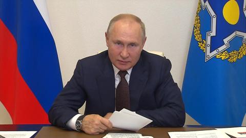Путин объяснил отмену визита в Душанбе необходимостью самоизоляции