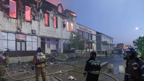 Люди погибли при пожаре в гостинице в Дагестане