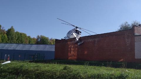 Появилось видео с места ЧП с медицинским вертолетом в Ижевске