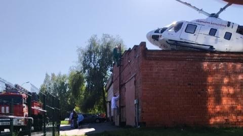 Неудачная посадка медицинского вертолета в Ижевске попала на видео