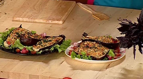 Кулинарная академия. Кораблики из баклажана