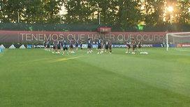 В Краснодаре проводит первую тренировку сборная Испании