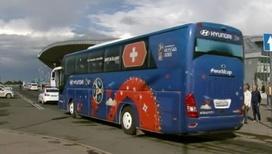 Швейцарских футболистов встретили в Самаре, датских – в Сочи
