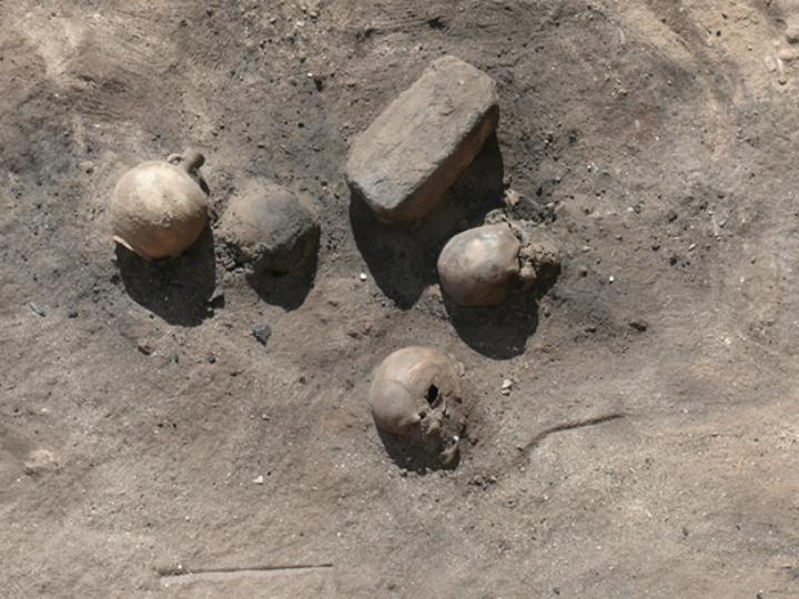 Жертвы древней эпидемии, поразившей Фивы, сжигались после смерти