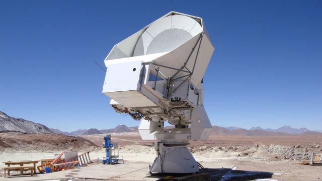 """Телескоп """"Хуан Тран"""" в пустыне Атакама, при помощи которого проводятся наблюдения"""