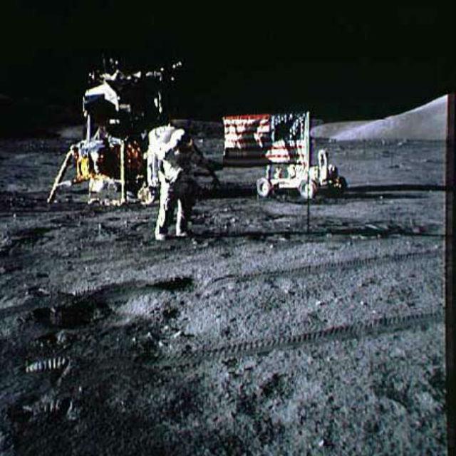 """Последняя высадка людей на Луну, миссия """"Аполлон-17"""", 1972 год"""