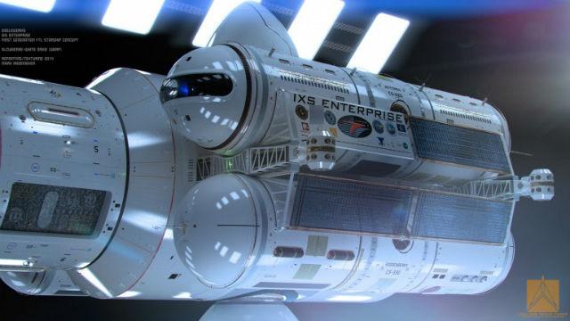 При движении сквозь пространство-время корабль будет находиться внутри пузыря Алькубьерре