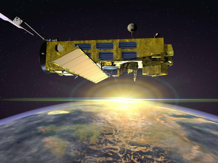 Спутник ENVISAT, при помощи которого были собраны данные о выбросах парниковых газов в атмосферу Земли
