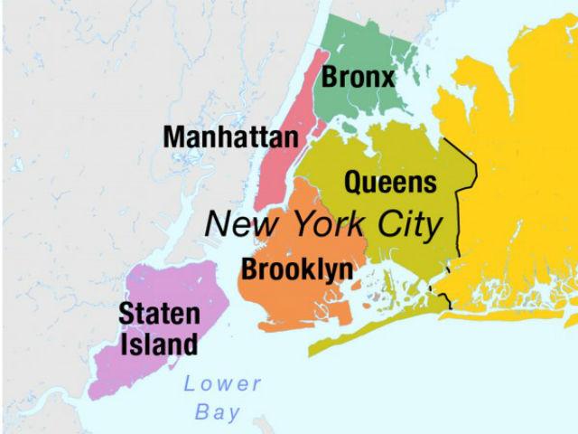 """Нью-Йорк представляет собой настоящий """"винегрет"""" из районов с различными очертаниями"""