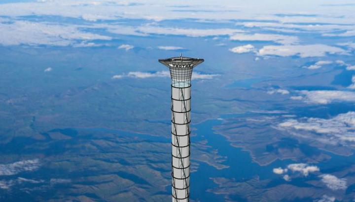 Высота надувной башни с лифтом достигнет 20 километров