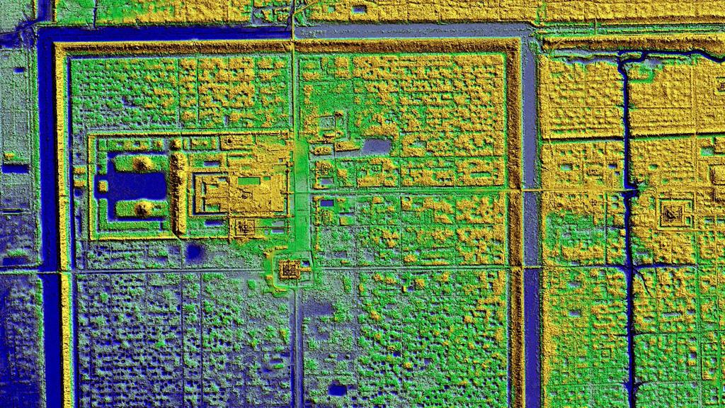 Результаты LIDAR-сканирования участка вокруг Ангкор-Тхом. Изображение: Damian Evans / CALI