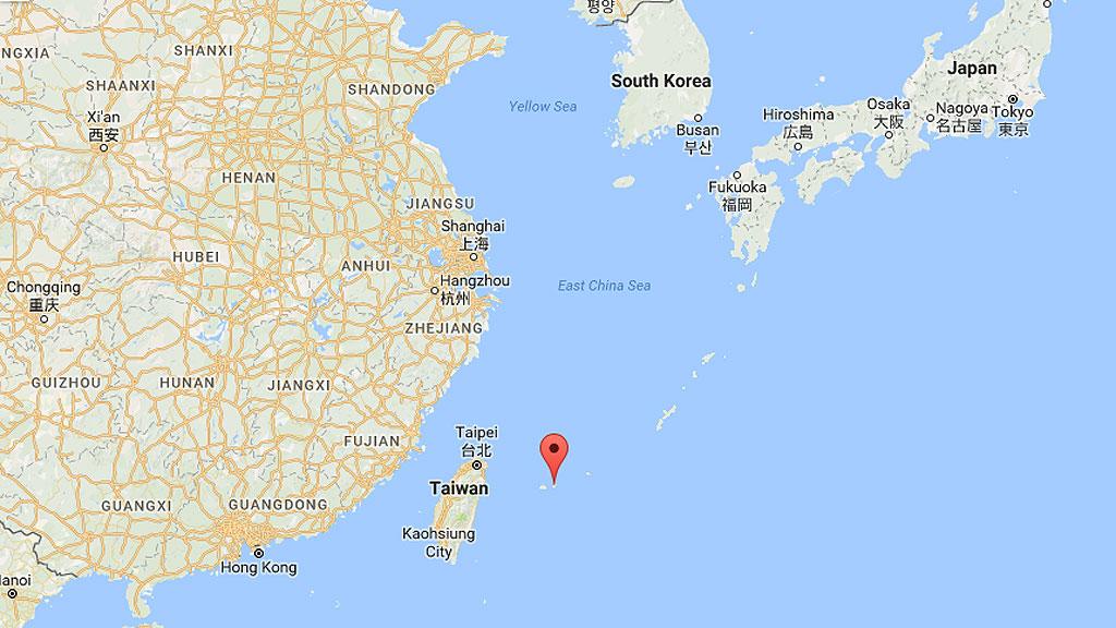 Острова Восточно-Китайского моря. Маркером отмечен остров Ишигаки. Иллюстрация: Google