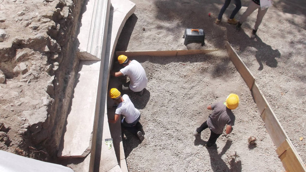 Раскопки монументальной гробницы в Помпеях. Фото: Special Superintendency for the Archaeological Heritage of Naples and Pompeii