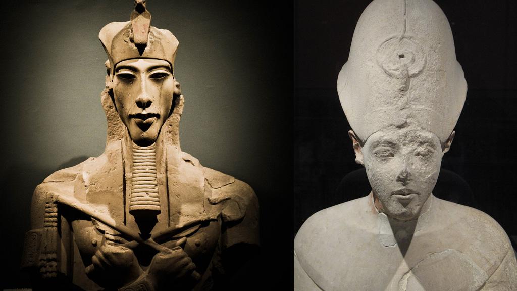 Образ Эхнатона в начале и в конце правления. Фото: Каирский музей / Лувр