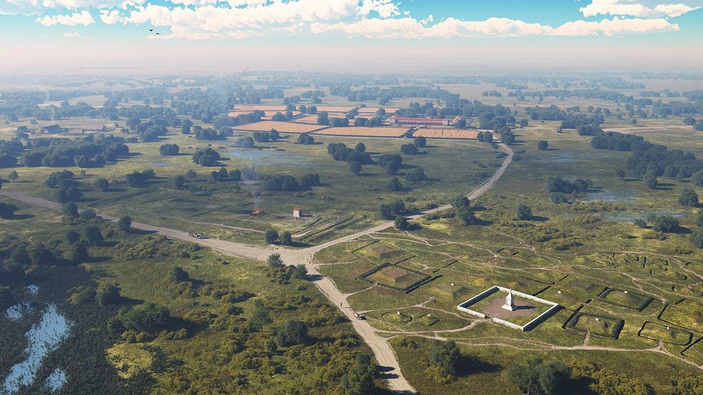 Современная реконструкция возможного вида кладбища в римскую эпоху. Изображение: Rijkswaterstaat