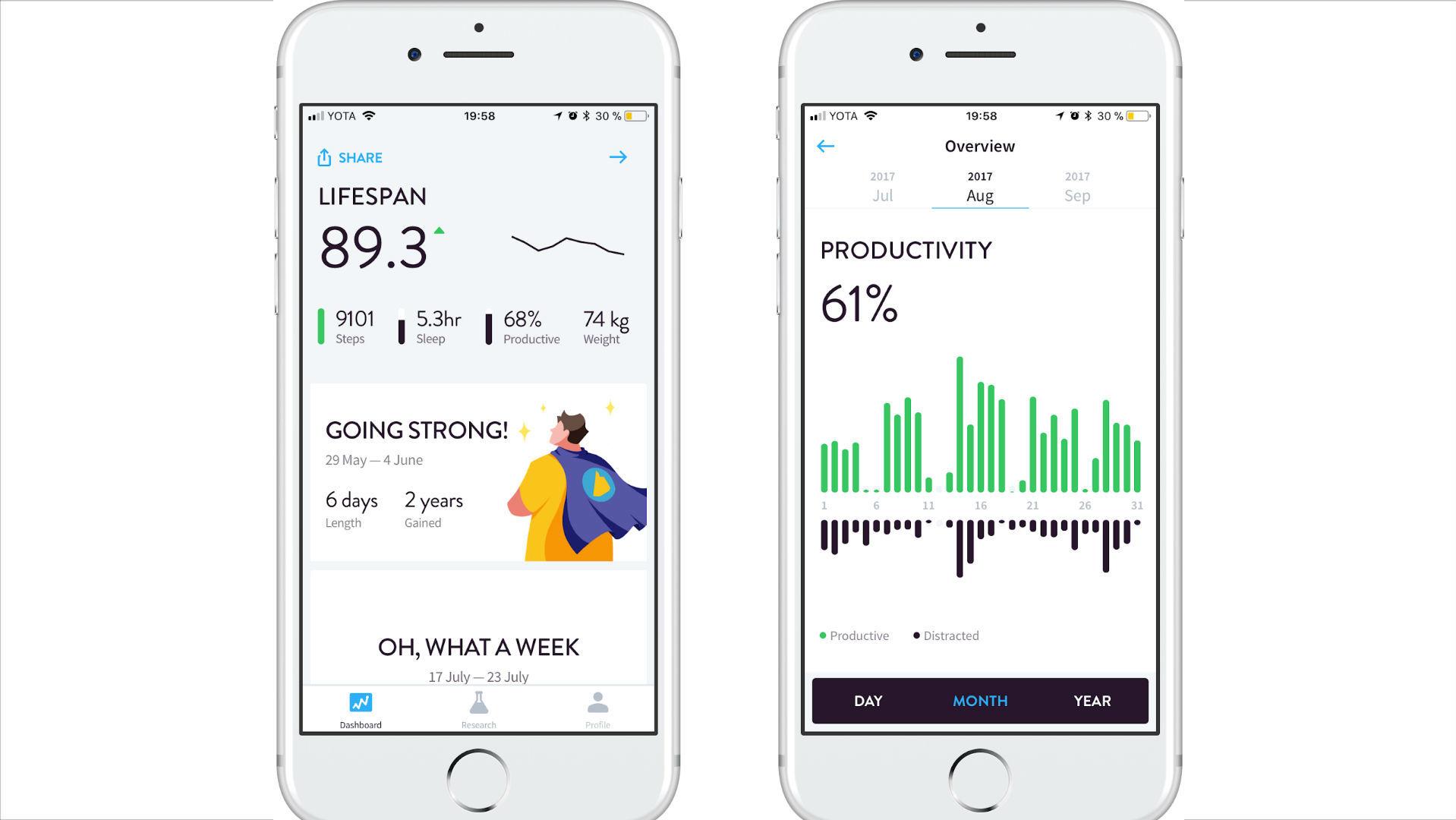 В компании разработали прототип мобильного приложения на основе алгоритма, Gero Lifespan, бета-версию которого уже можно установить на смартфон.