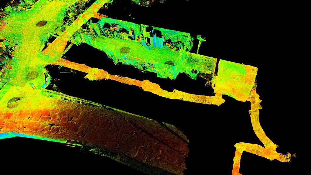 Карта подземных туннелей, созданная с помощью лазерного сканирования. Фото: Parco Archeologico di Pompei