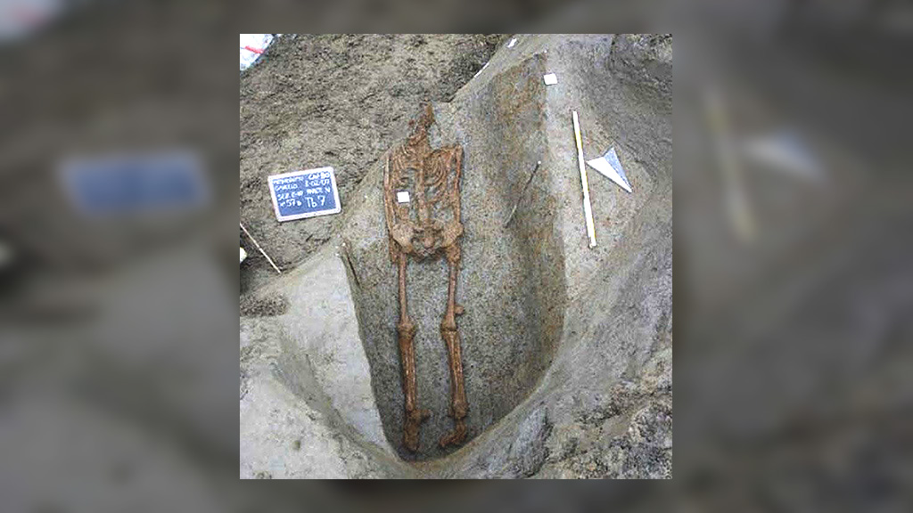 Скелет из одиночного захоронения в Гавелло. Фото: Soprintendenza archeologia per le province di Verona, Rovigo e Vicenza